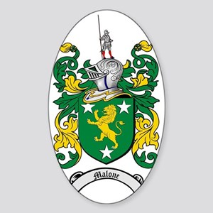 Malone Family Crest / Coat of Arms Sticker (Oval)