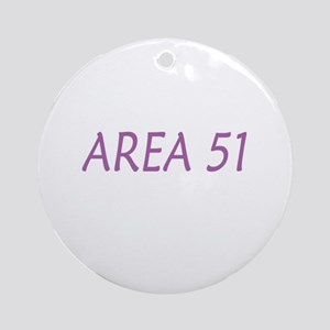 Area 51 - Holiday Ornament (Purple/Round)