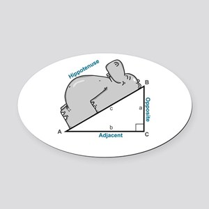 Hippotenuse Oval Car Magnet
