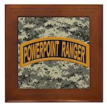 Powerpoint Ranger logo Framed Tile