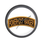 Powerpoint Ranger logo Wall Clock