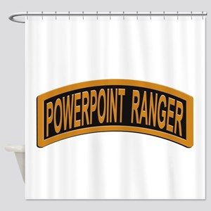 Powerpoint Ranger logo Shower Curtain