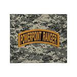 Powerpoint Ranger logo Throw Blanket