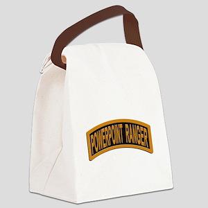 Powerpoint Ranger logo Canvas Lunch Bag
