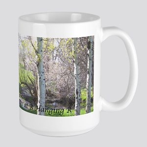 Llama through the trees Large Mug