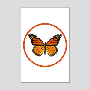 Monarch Butterfly Mini Poster Print