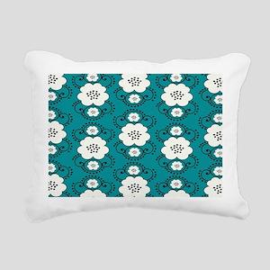 boho chic floral damask  Rectangular Canvas Pillow