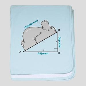 Hippotenuse baby blanket