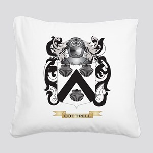 Cottrell Coat of Arms Square Canvas Pillow