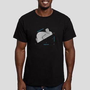 Hippotenuse Men's Fitted T-Shirt (dark)
