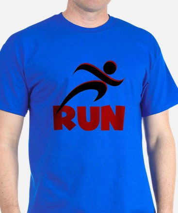 RUN in Red T-Shirt