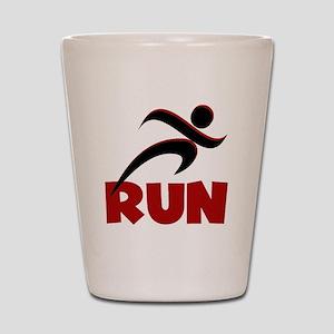 RUN in Red Shot Glass