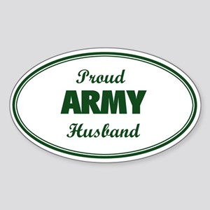 Proud Army Husband Oval Sticker