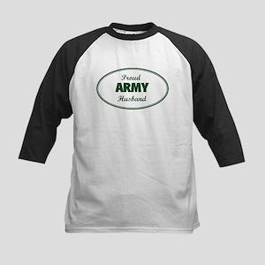 Proud Army Husband Kids Baseball Jersey