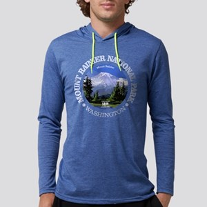 Mt Rainier NP Mens Hooded Shirt