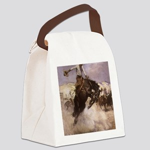 Breezy Riding by Koerner Canvas Lunch Bag