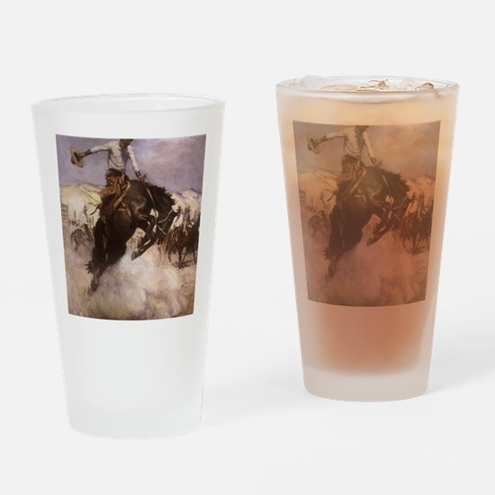 Breezy Riding by Koerner Drinking Glass
