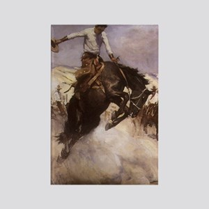 Breezy Riding by Koerner Rectangle Magnet