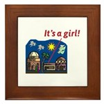 It's a Girl! -  Framed Tile