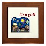 It's a Girl! -  Framed Tile