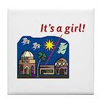 It's a Girl! -  Tile Coaster