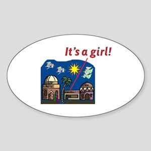It's a Girl! - Oval Sticker