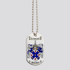 McCallum Family Crest - coat of arms Dog Tags