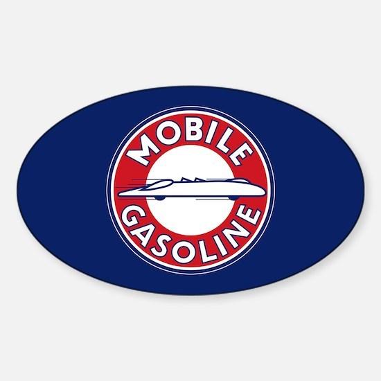Mobile Gasoline Sticker (Oval)