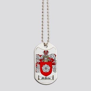 McBride Family Crest - coat of arms Dog Tags