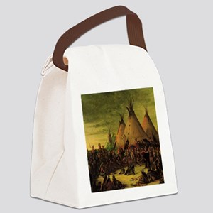 Sioux War Council by George Catli Canvas Lunch Bag