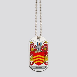 Matthews Family Crest - Coat of Arms Dog Tags