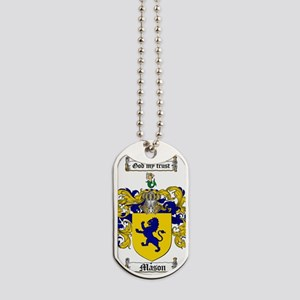 Mason Family Crest - Coat of Arms Dog Tags