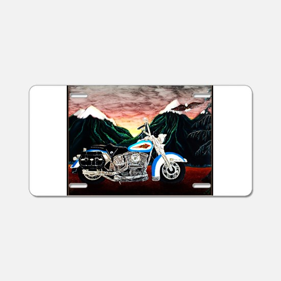 Motorcycle Dream Aluminum License Plate
