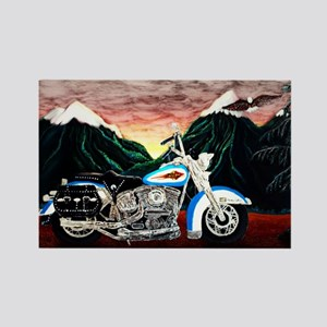 Motorcycle Dream Rectangle Magnet