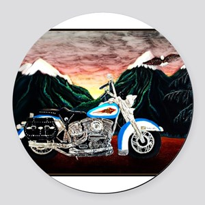 Motorcycle Dream Round Car Magnet
