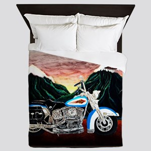 Motorcycle Dream Queen Duvet