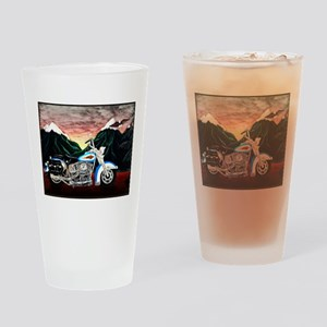 Motorcycle Dream Drinking Glass
