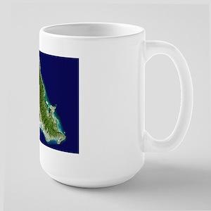 O`ahu from Landsat Large Mug