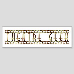 Theatre Geek Bronze Bumper Sticker