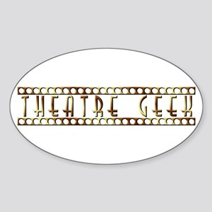 Theatre Geek Bronze Oval Sticker