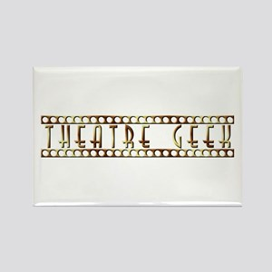 Theatre Geek Bronze Rectangle Magnet