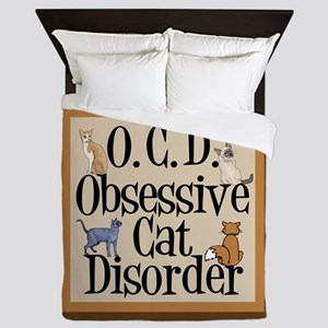Obsessive Cat Disorder Queen Duvet