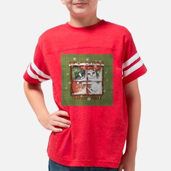 Christmas Cats First jamie ed Youth Football Shirt