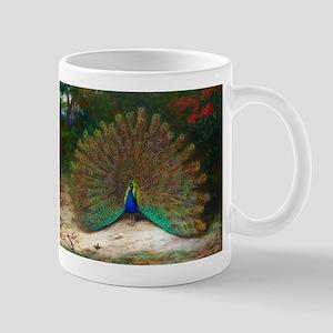 Peacock and Peacock Butterfly Mug
