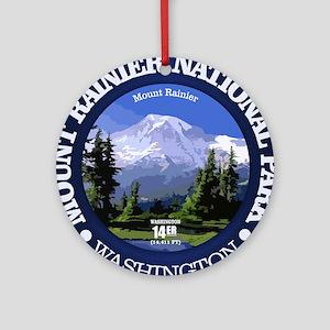 Mt Rainier NP Round Ornament