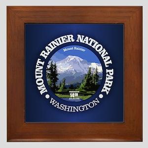 Mt Rainier NP Framed Tile