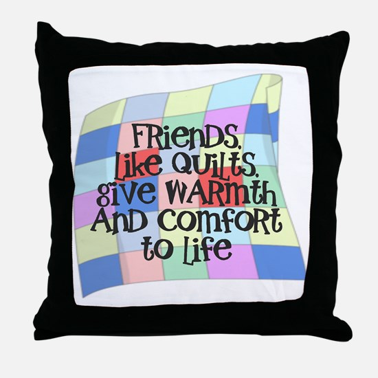 Funny Quilters Throw Pillow