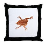 Surinam toad f Throw Pillow