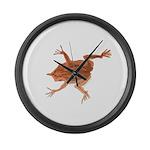 Surinam toad f Large Wall Clock
