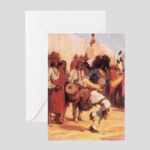Buffalo Dance by Cassidy Greeting Card